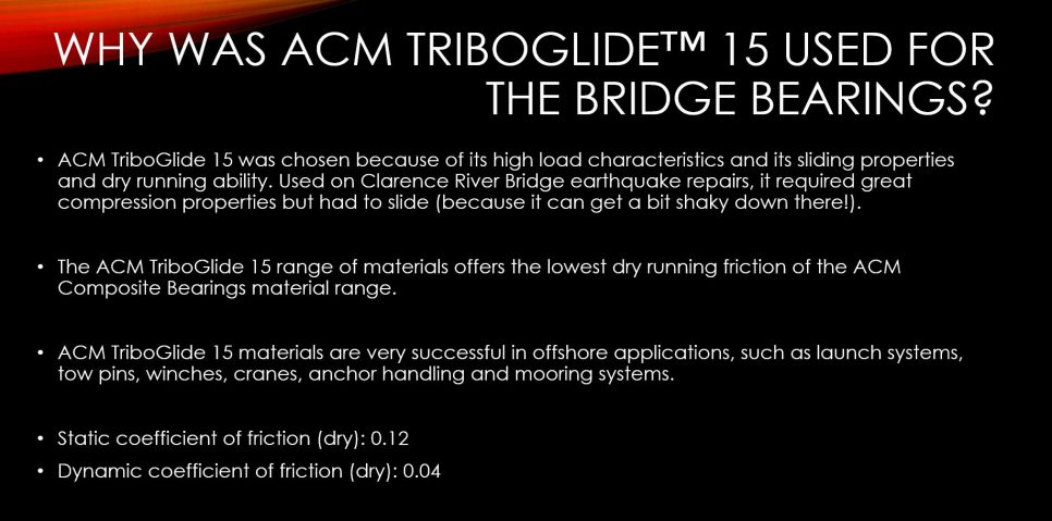 ACM Composite Bearings used in the Clarence River Bridge
