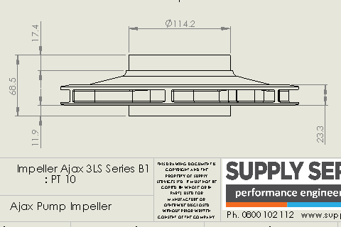 CAD drawing created from reverse engineering