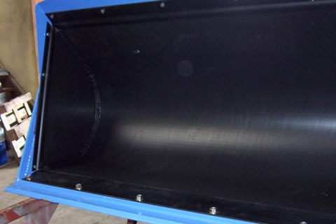Bucket Liner lined with truck liner material