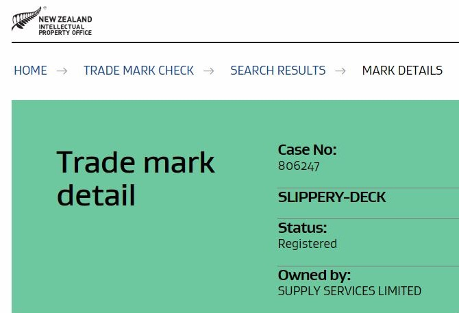 Truck liners trade mark