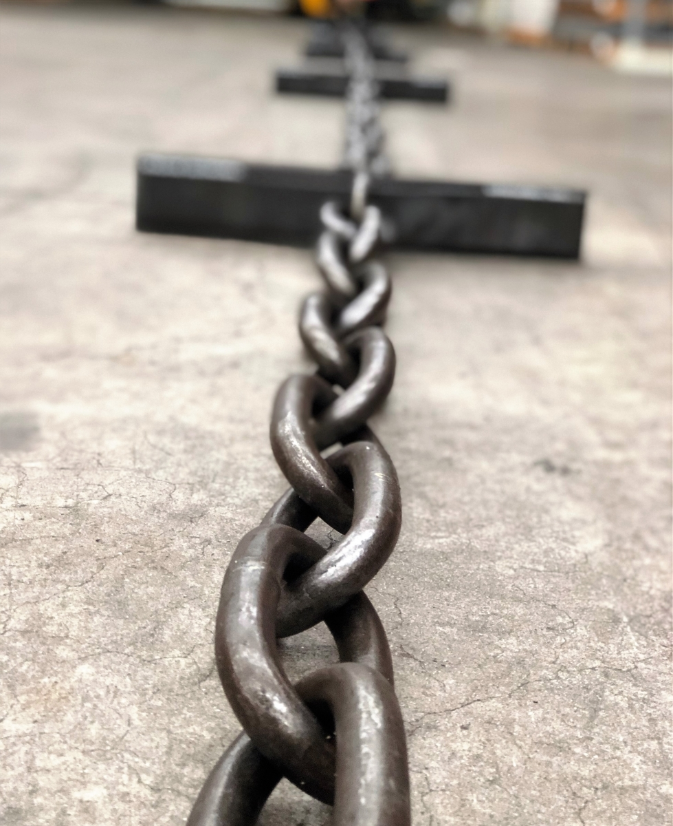 Long link alloy steel chain