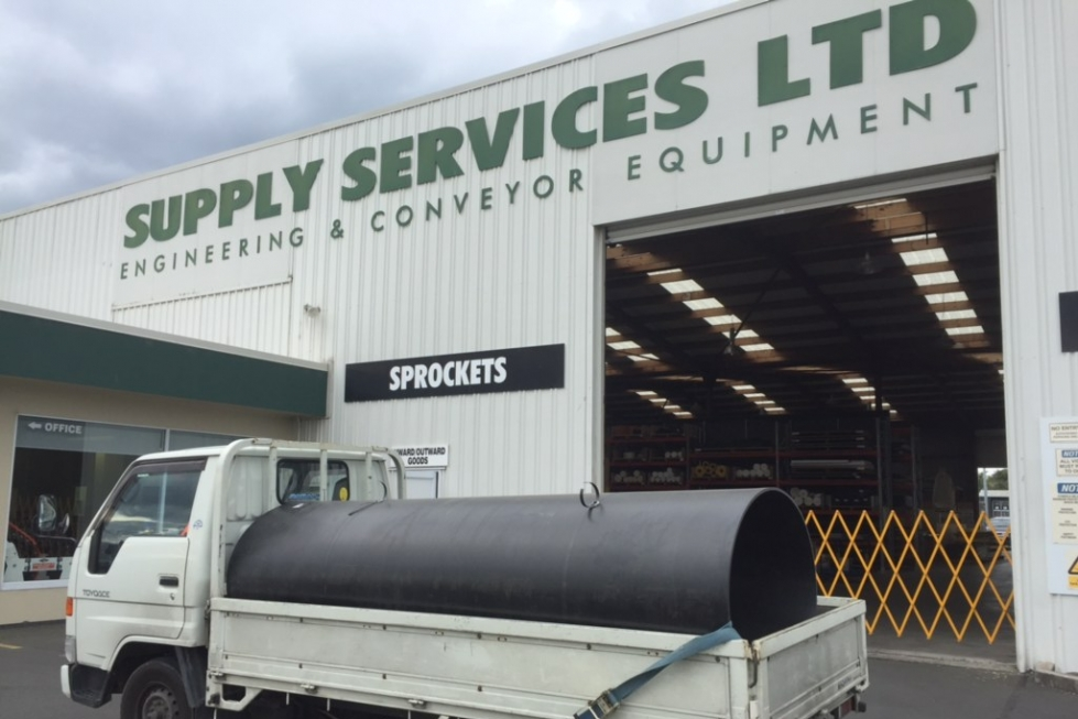 Collecting slippery deck truck liners from supply services limited