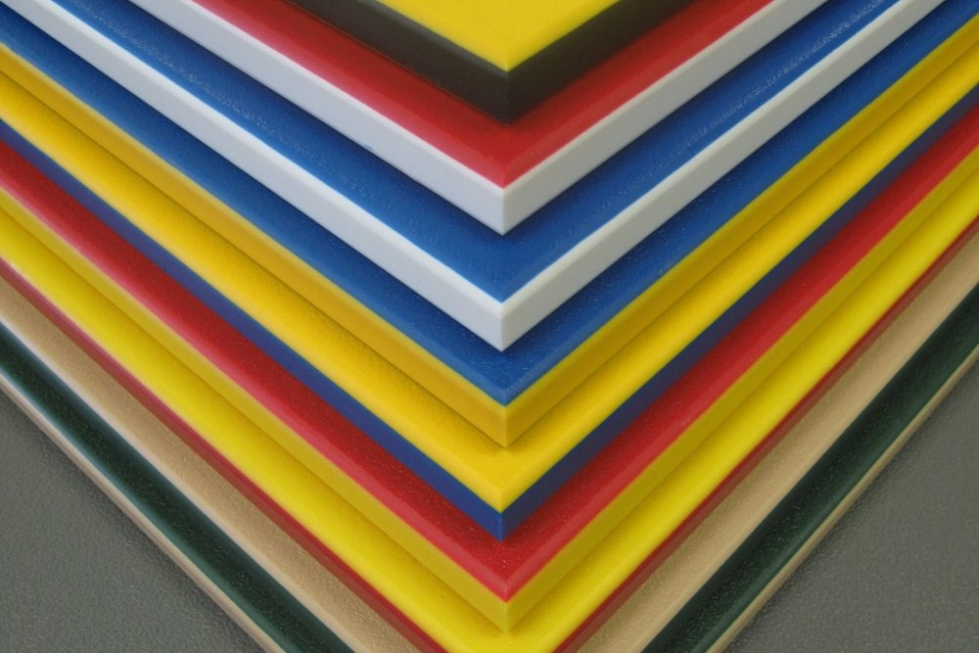 HDPE plastic sheet used for signage applications