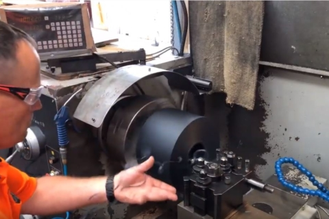machining plastics with manual lathe